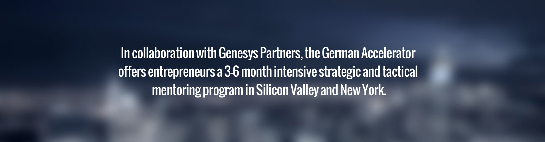 Genesys partners with the German Accelerator