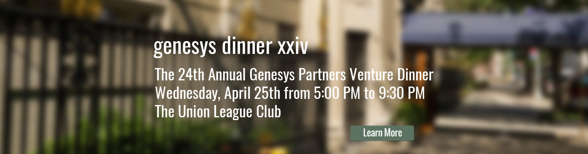 23rd Annual Genesys Partners Venture Dinner